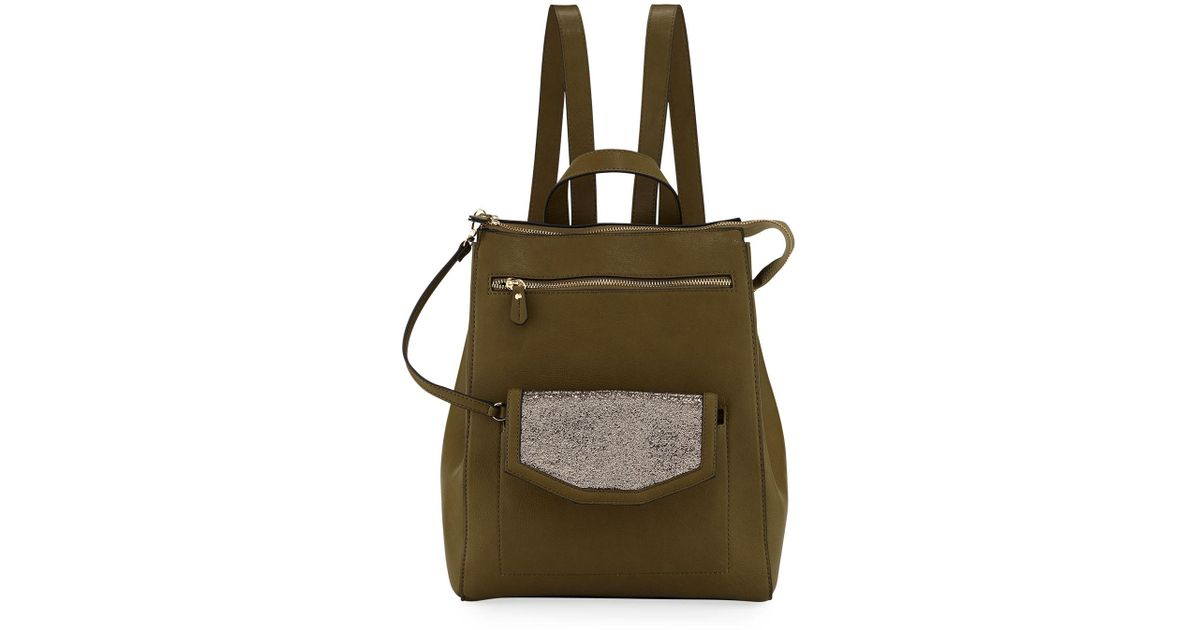 70cc9f5a759 Neiman Marcus Green Jamiee Faux-leather Backpack