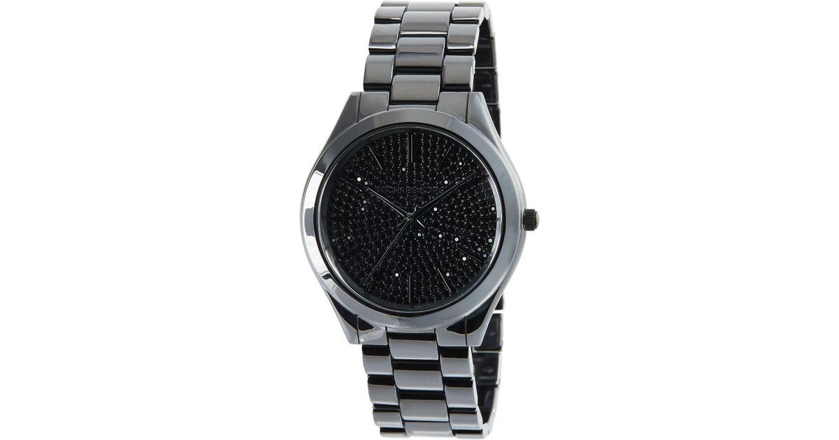 d9b7fb9fe Michael Kors Runway 41mm Ceramic Watch In Black For Men Lyst