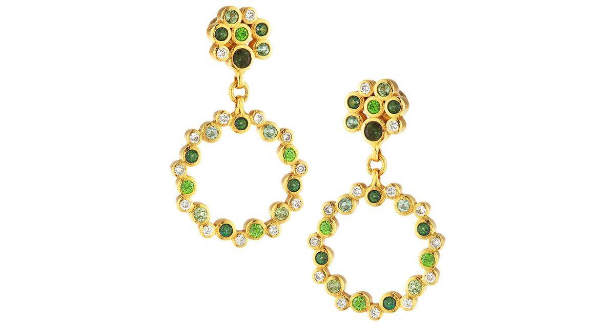 Gurhan 22k Pointelle Multi-Stone Linear Earring p5oXDik