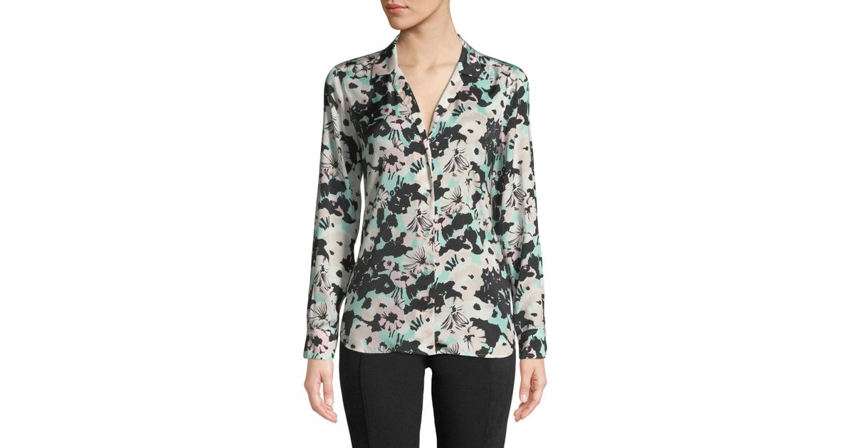 fa563cd750cc02 Lyst - Equipment Adalyn Backlight Floral Button-down Blouse