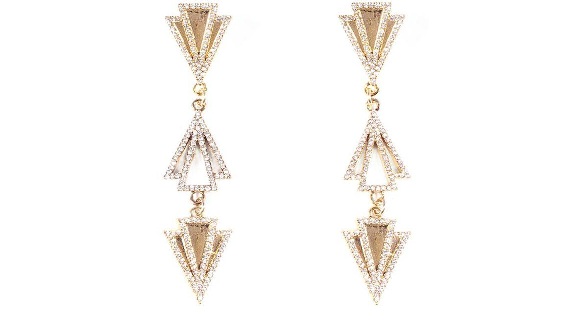 Lulu Frost Laumiere Drop Earrings w/ Crystals dFtw5