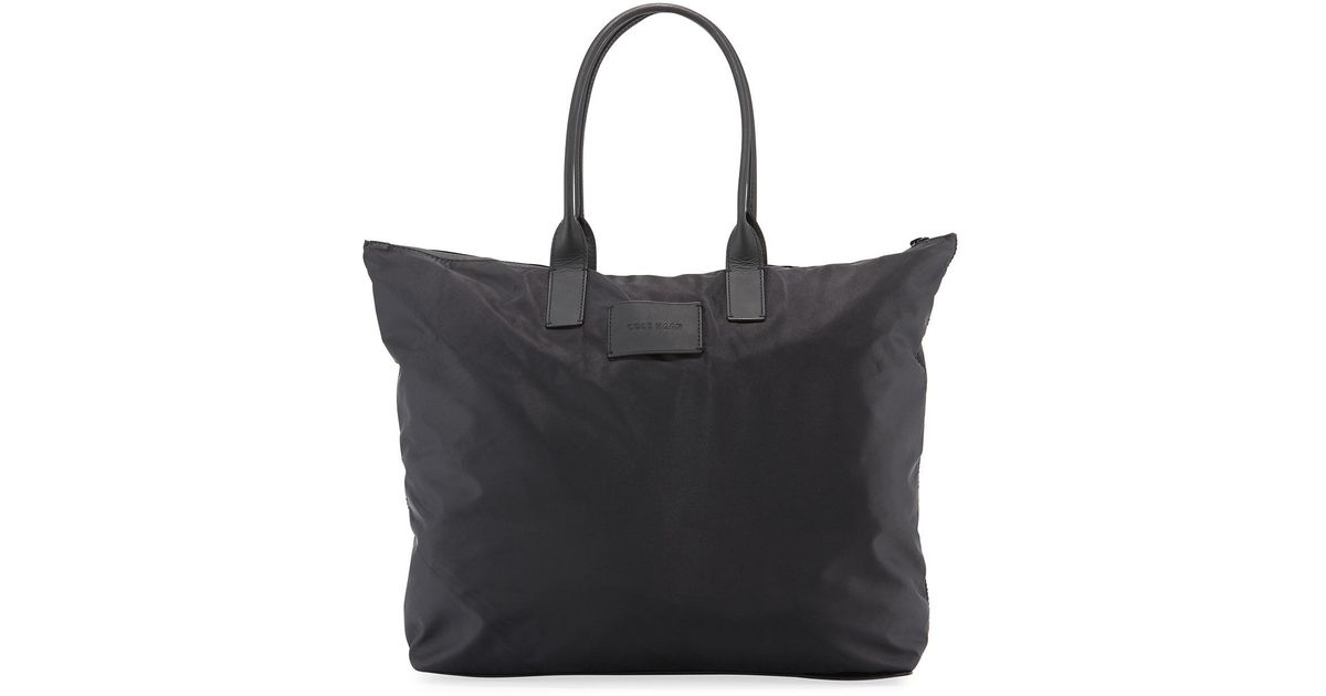 e6b863999f Cole Haan Nylon Large Packable Tote Bag in Black - Lyst