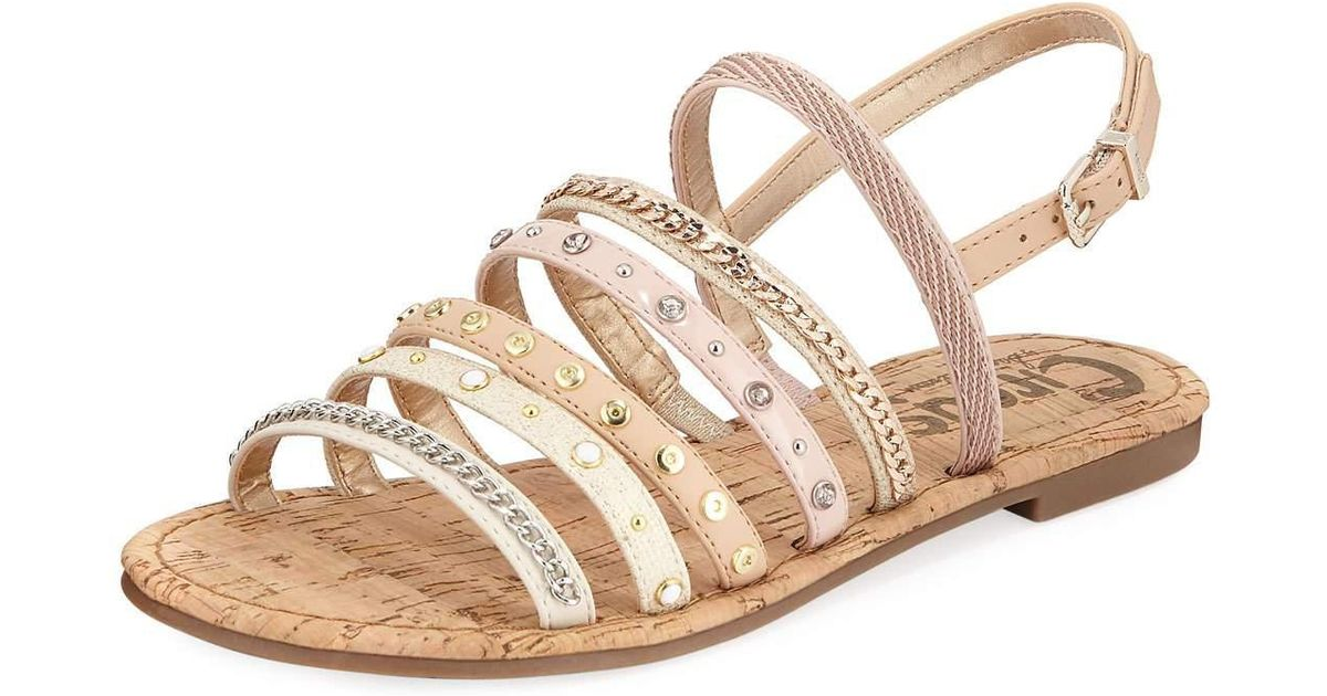 0d23fe1862c8 Lyst - Circus by Sam Edelman Bev Strappy Embellished Sandal in White