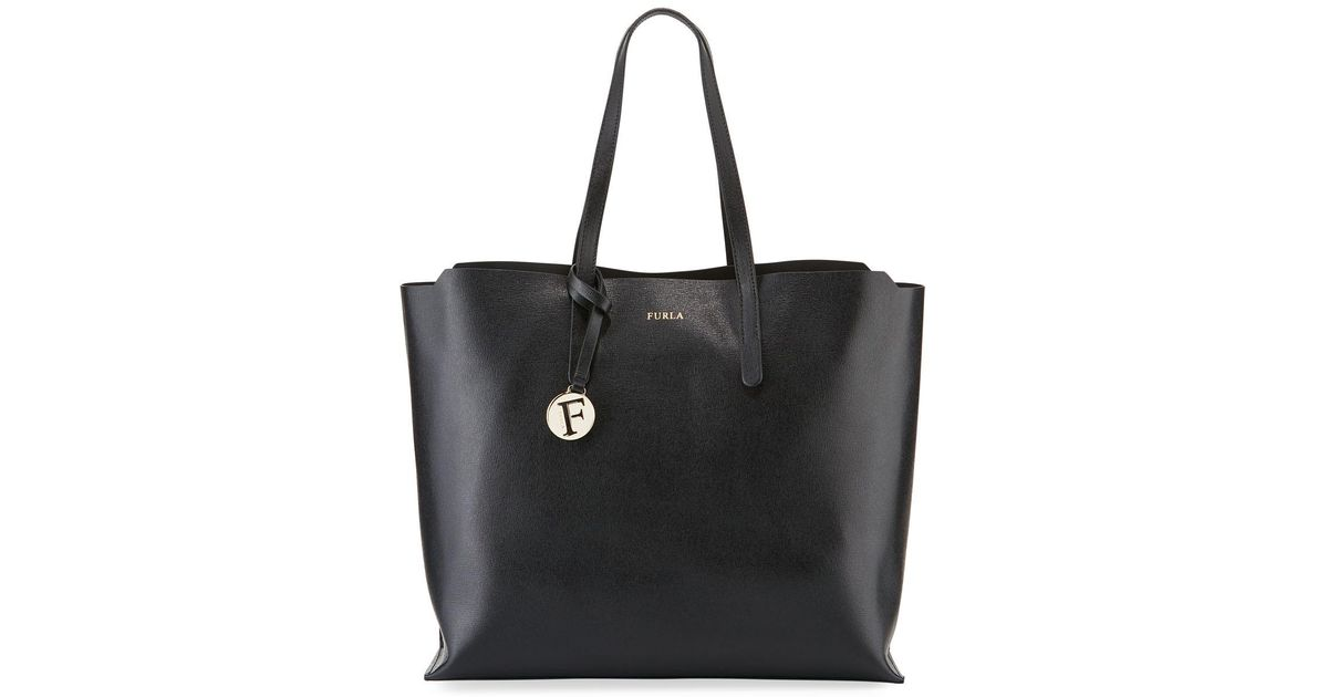 d27f1b7fae3 Lyst - Furla Sally Large Saffiano Leather Shoulder Tote Bag in Black