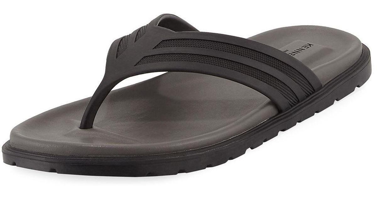 0c8996c72 Lyst - Kenneth Cole Take A Glimpse Rubber Thong Sandal in Black