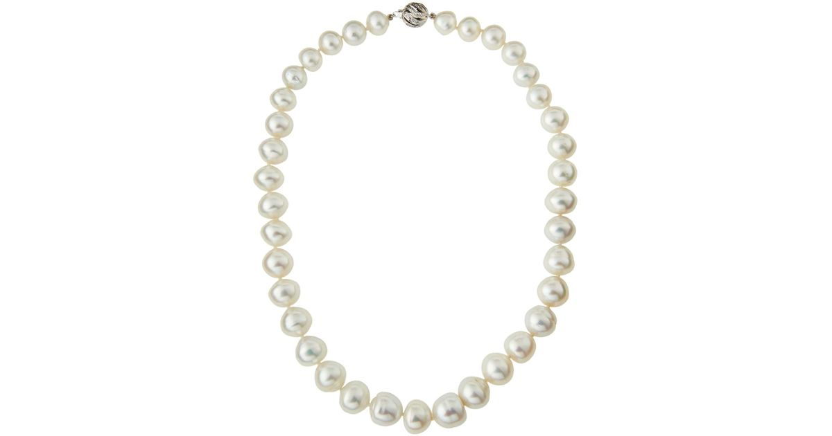 Belpearl 14k Akoya Pearl Necklace, 18L