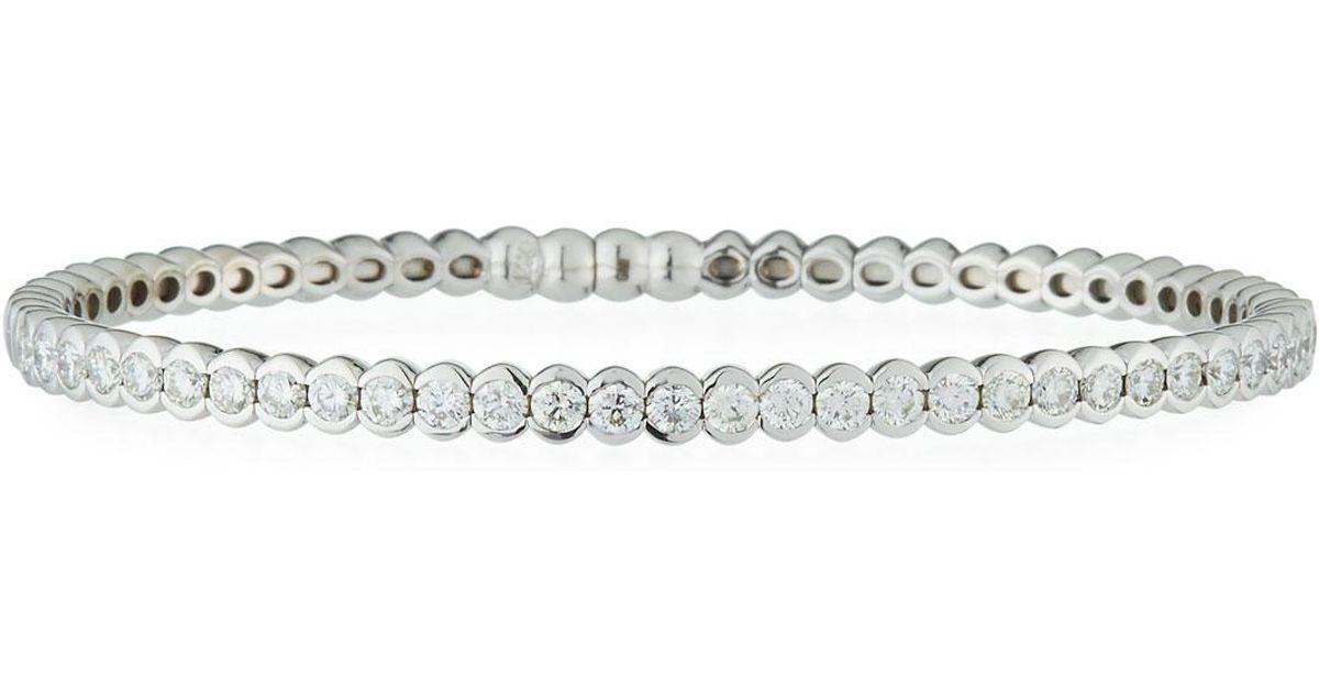 Neiman marcus 18k White Gold Channel set Diamond Bangle in White