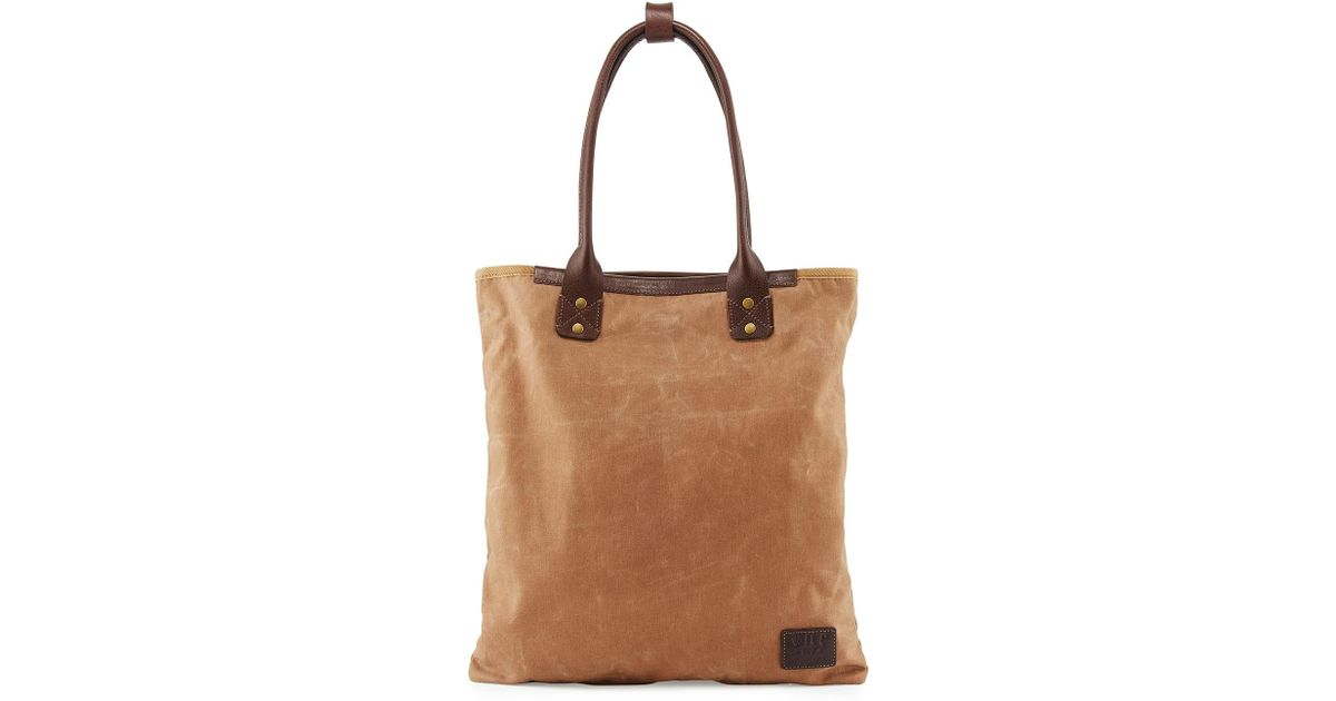 Will Leather Goods Brown Cooper Spur Canvas Tote Bag