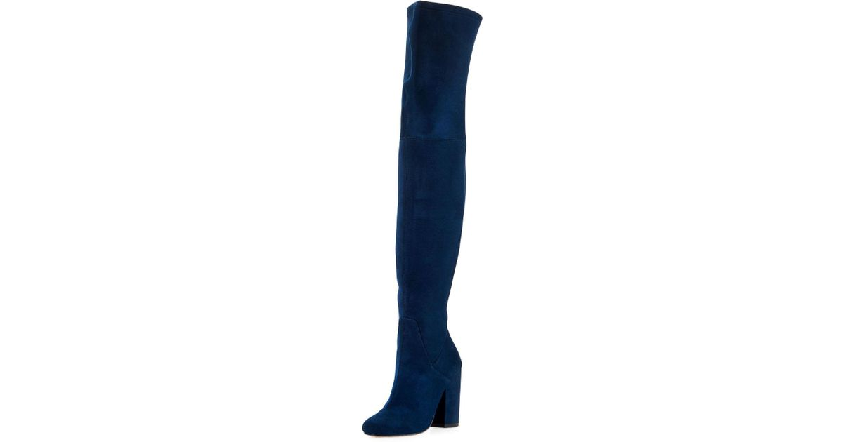 e447abac0ecf Lyst - Neiman Marcus Faith Over-the-knee Boot in Blue