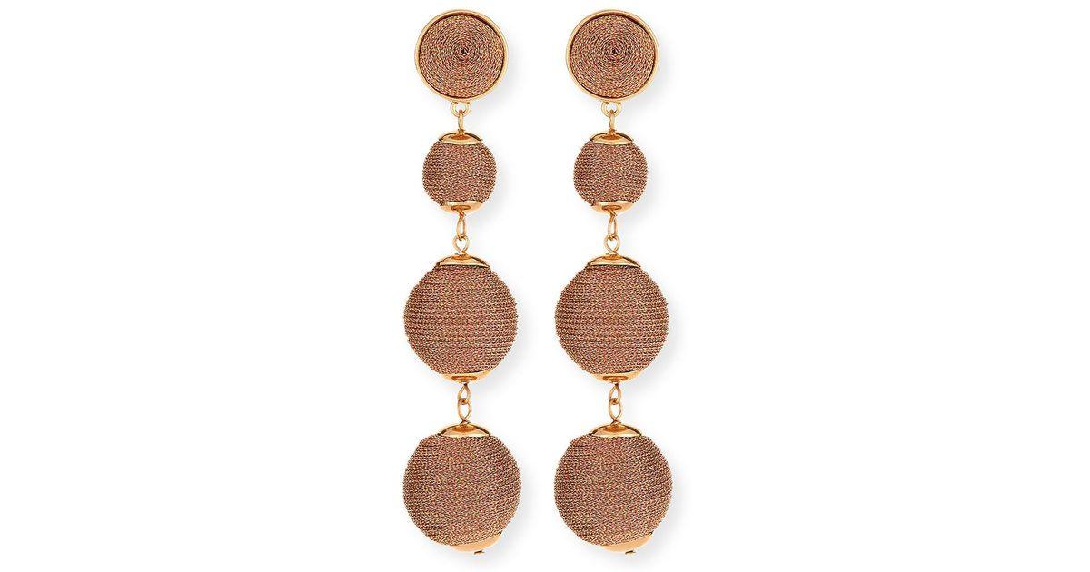 Lydell Nyc Thread-Wrapped Sphere Dangle Earrings jIZlP6oL
