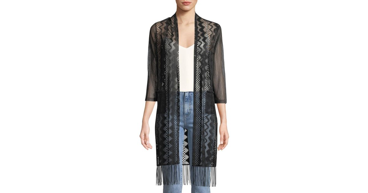 3/4-Sleeve Semi-Sheer Duster Cardigan Neiman Marcus For Nice Find Great Cheap Online Free Shipping Sale Buy Cheap 2018 New Sale Reliable zgEDkuu27l