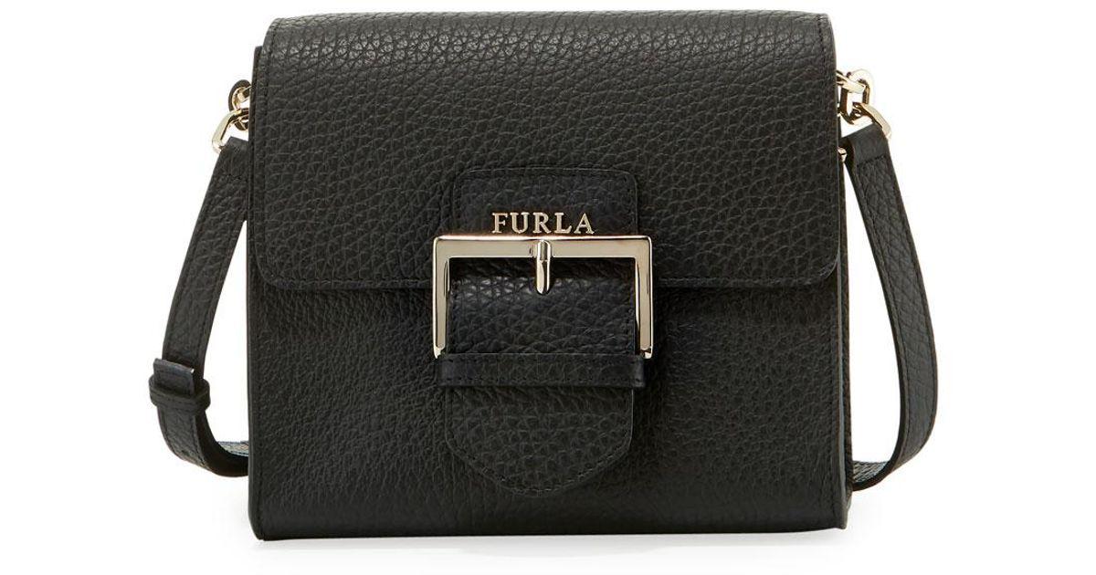 Lyst - Furla Flo Small Leather Crossbody Bag in Black 9b174f4358