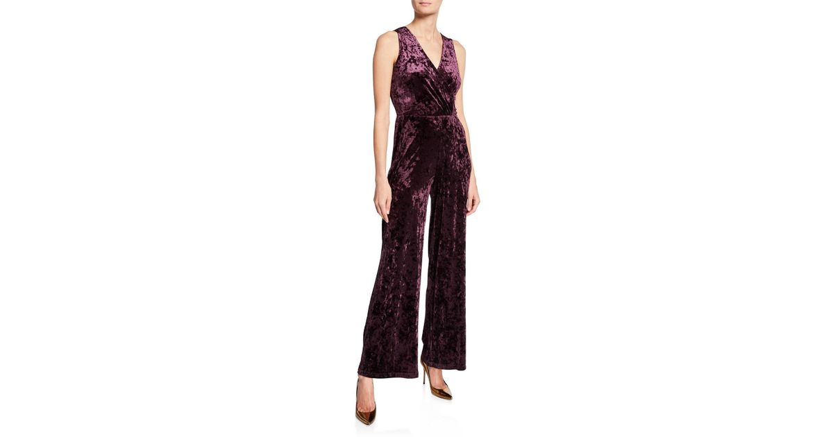 9472c80b8f00 Lyst - RACHEL Rachel Roy Whitney Sleeveless Velvet Jumpsuit in Purple