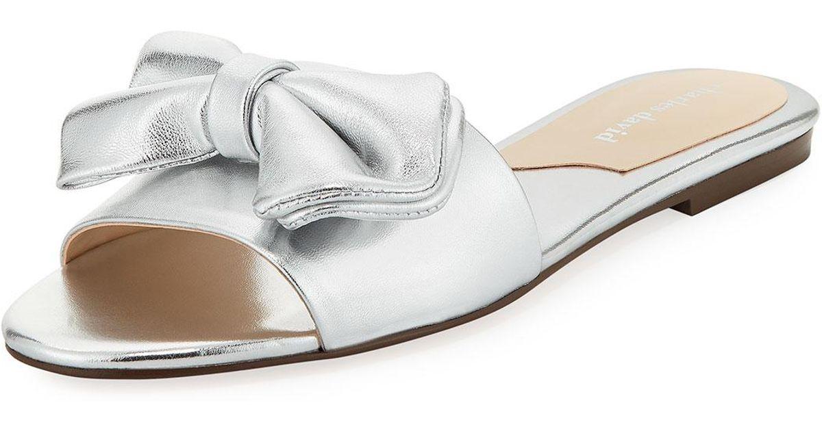 Charles David Slipper Metallic Slide Sandal lE1YbZyEC5