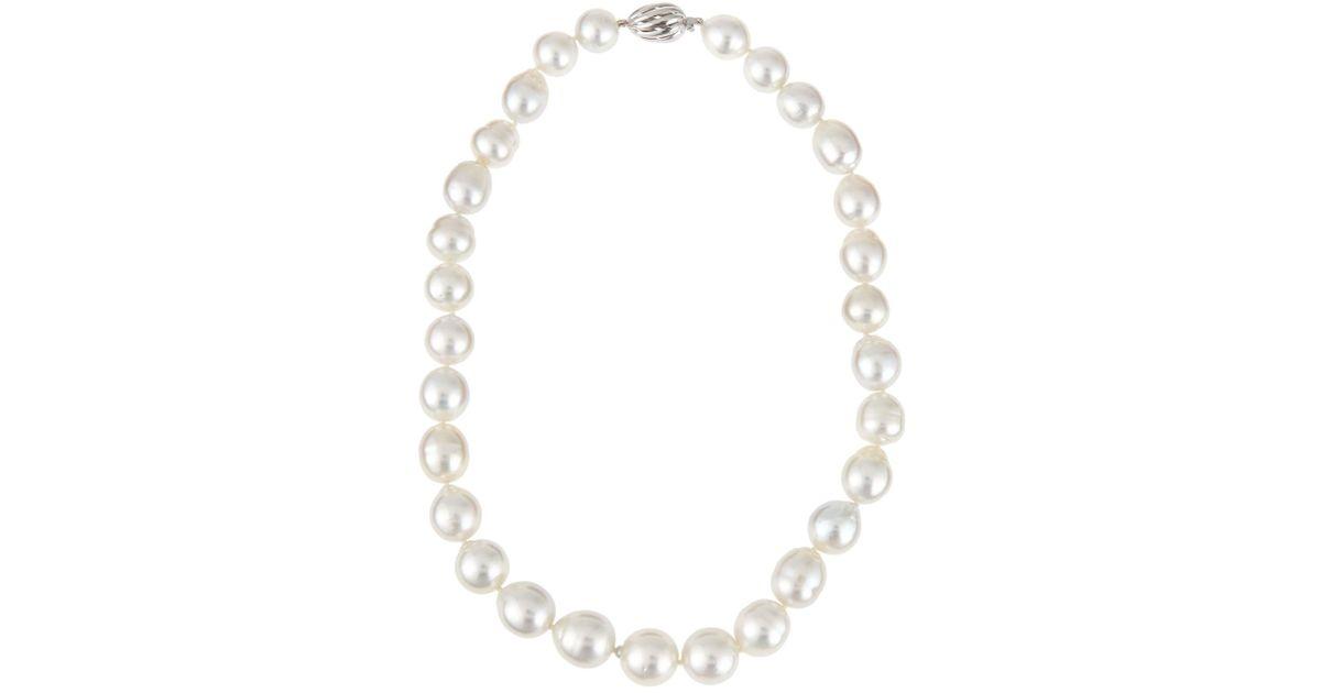 Belpearl 14k Oblong Tahitian Pearl Necklace rg481Mt7