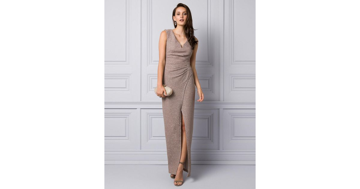 Le Chateau Sparkle Knit V-neck Gown - Lyst 725bb7dd5