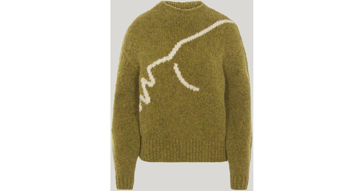 Lyst Paloma Wool Virgo Intarsia Knit Sweater In Green