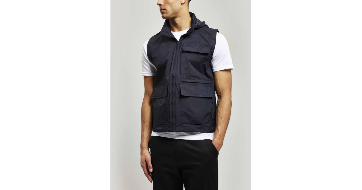 Norse Projects Blue Birkholm Zip-through Gilet for men