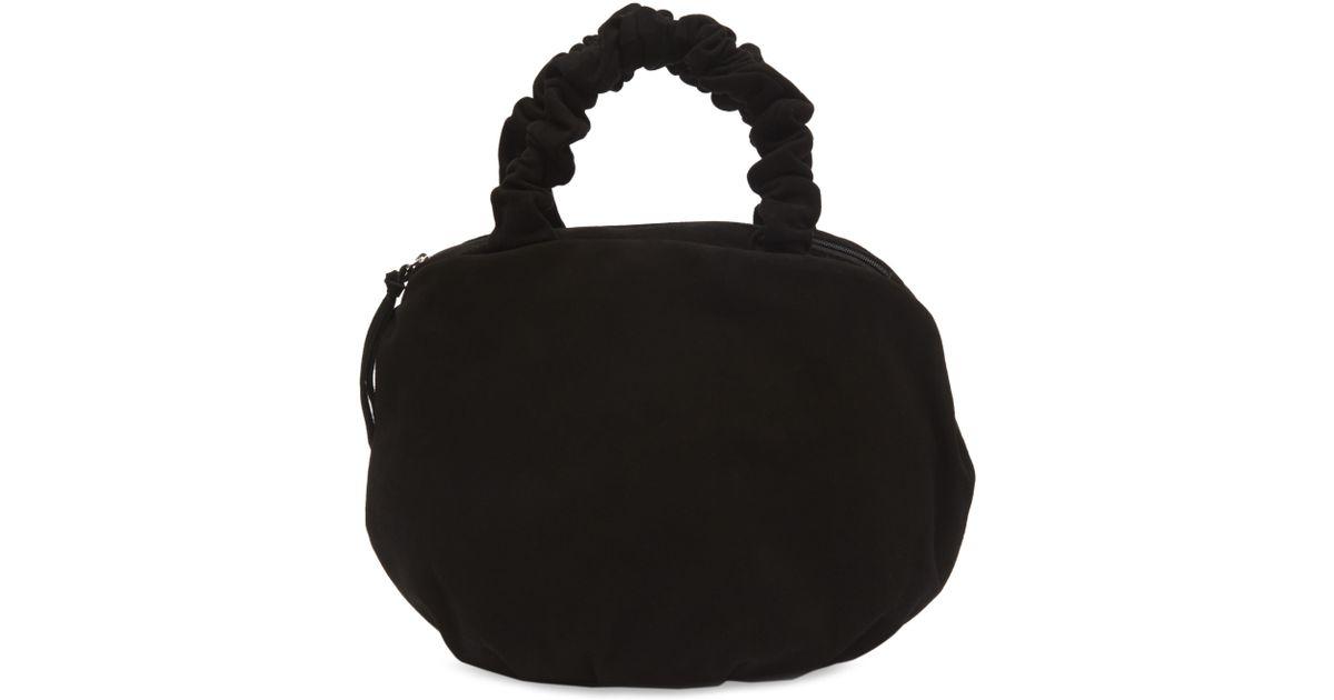 5781a281510b Lyst - Maryam Nassir Zadeh Margarita Crinkle Suede Bag in Black