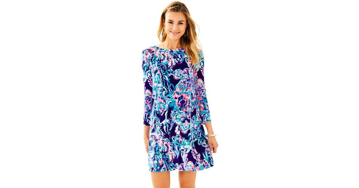 da6d6d32ec7f Lilly Pulitzer Olive Swing Dress in Blue - Lyst