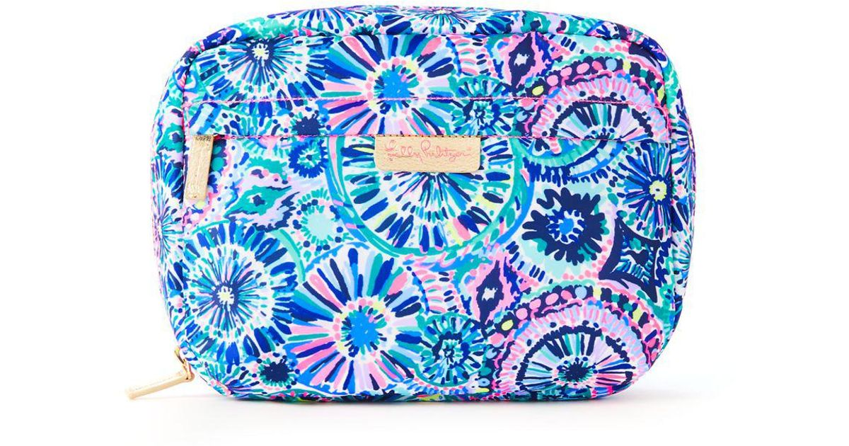 88f306e664 Lyst - Lilly Pulitzer Travel Cosmetic Case in Blue