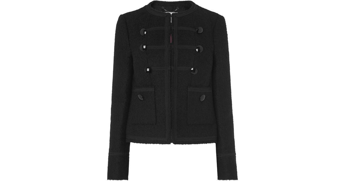 Lyst - L.K.Bennett Otto Black Military Style Jacket in Black e8bb5b0524a