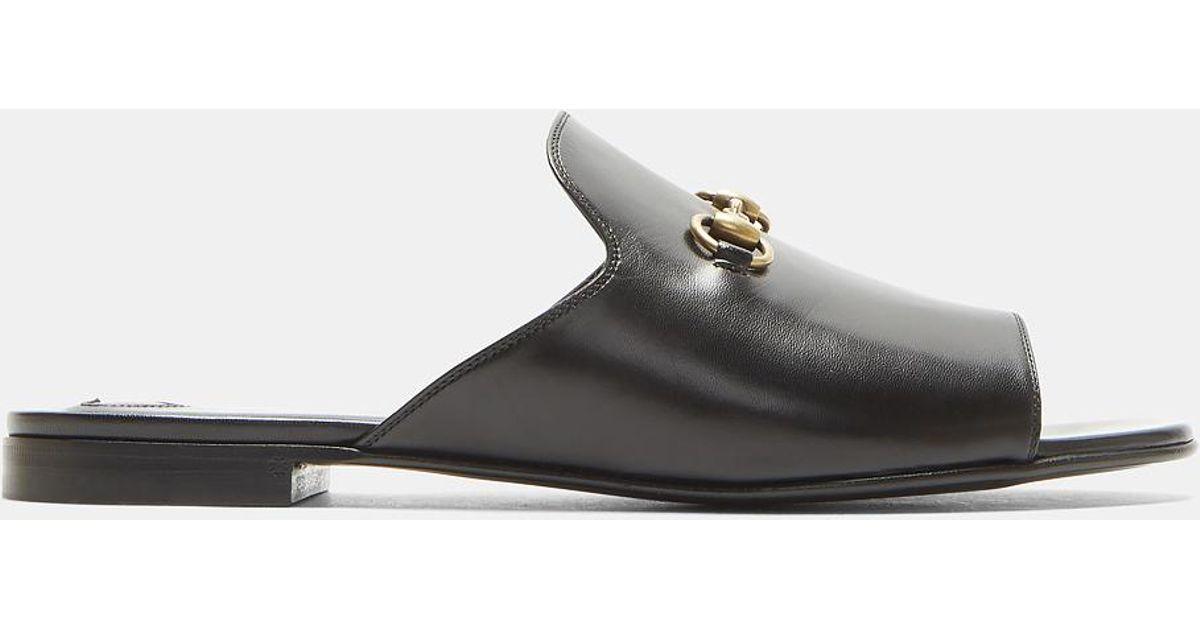 759c8e58f9d Lyst - Gucci Open Toe Slipper Shoes In Black in Black