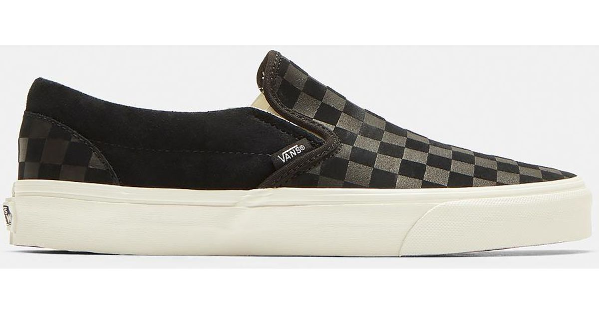 Vans Classic Slip-on Suede Checkerboard