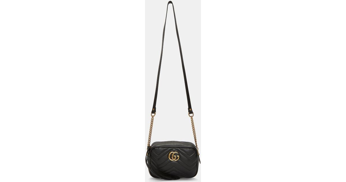 Gucci Women\u0027s Gg Marmont Matelassé Mini Bag In Black