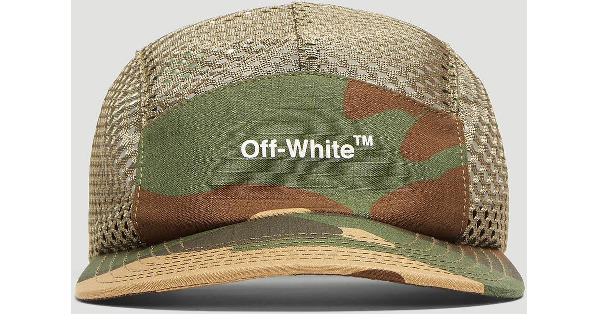 17a761998510 Lyst - Off-White c o Virgil Abloh Camouflage Mesh 5 Panel Cap In Khaki in  Natural for Men