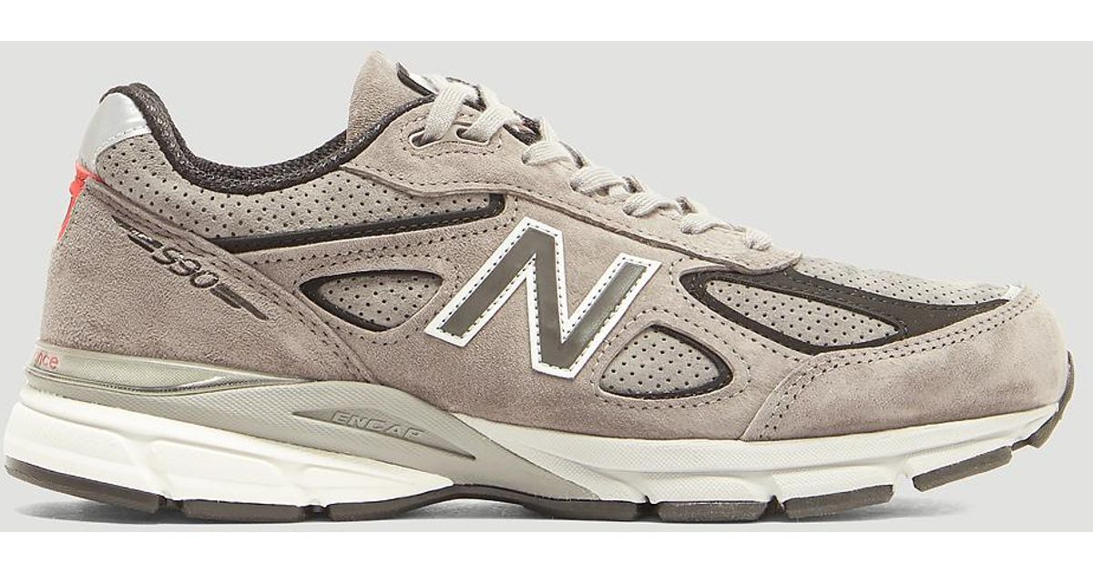 best website e8d04 7962a New Balance Gray 990 Core Sneakers In Grey for men
