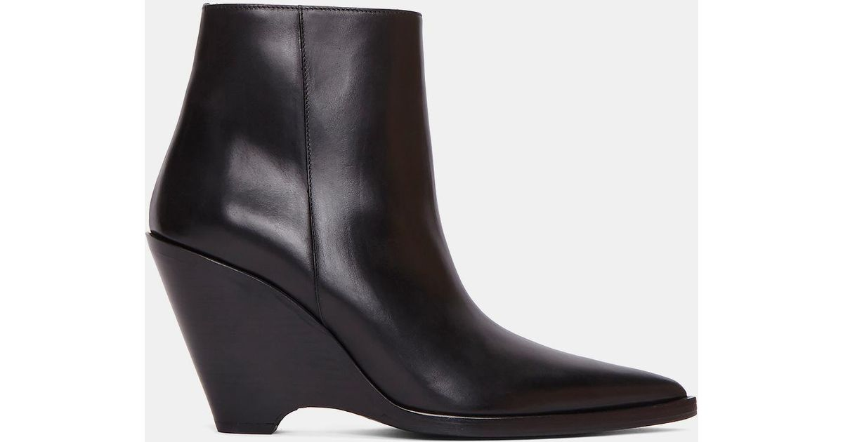 bd57ec0abd6 Acne Studios Black Caroline Leather Ankle Boots