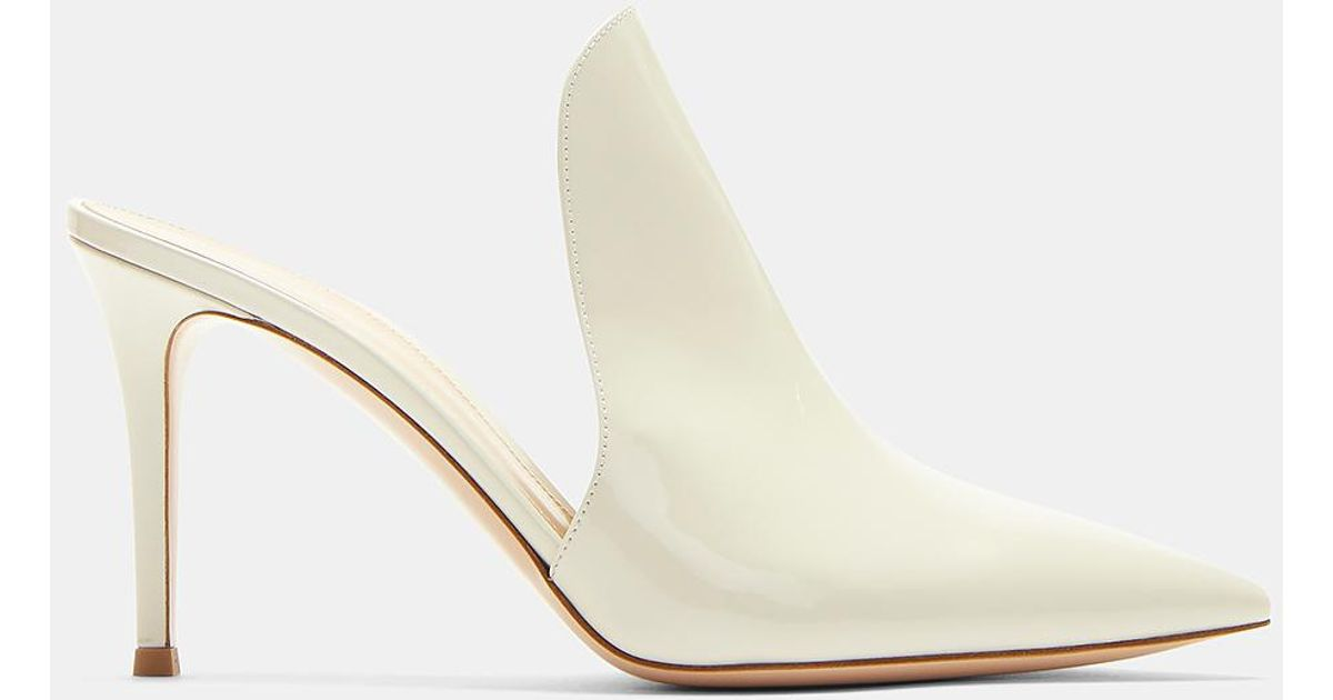 Aramis 85 Light Beige Patent Leather Mules Gianvito Rossi ejweDipm