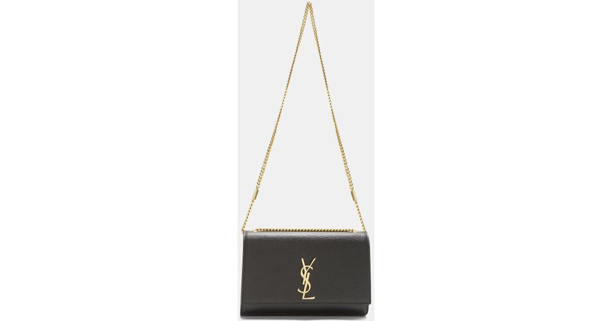 a2d2d599a1 Saint Laurent Medium Kate Grain De Poudre Chain Bag In Black
