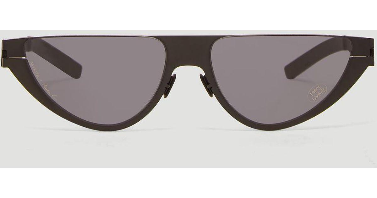 a35f8dd31b Lyst - Mykita X Martine Rose Selina Sunglasses In Black for Men