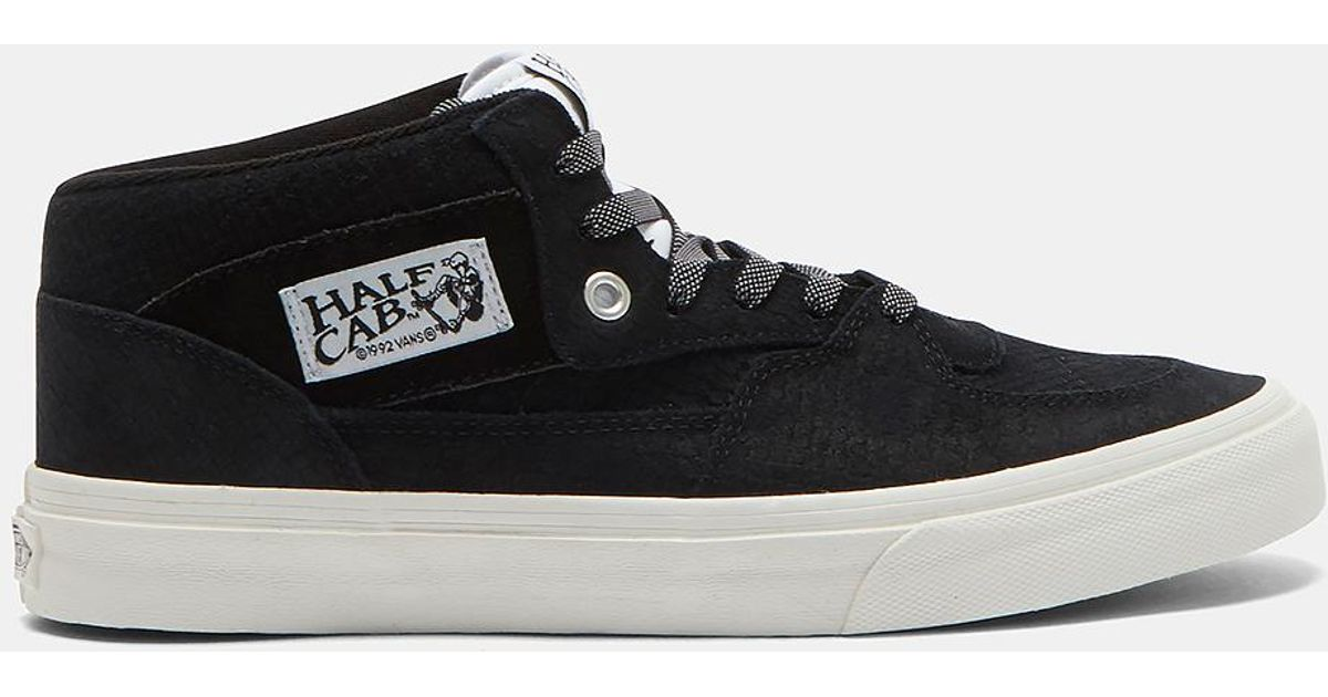 9080438ccc2 Lyst - Vans Half Cab Snakeskin Mid-top Sneakers In Black And White in Black  for Men