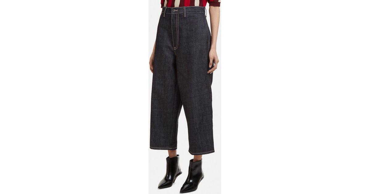 Recadrée Pantalons En Denim Surdimensionné Marni jna30c