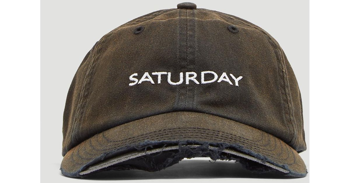 7c864079762b71 Vetements X Reebok Weekdays Cut Away Cap In Black in Black - Lyst