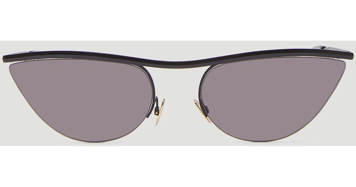 6c961d59436cd Lyst - Zanzan Zpans3 Paninaro Slim Sunglasses In Black in Black for Men