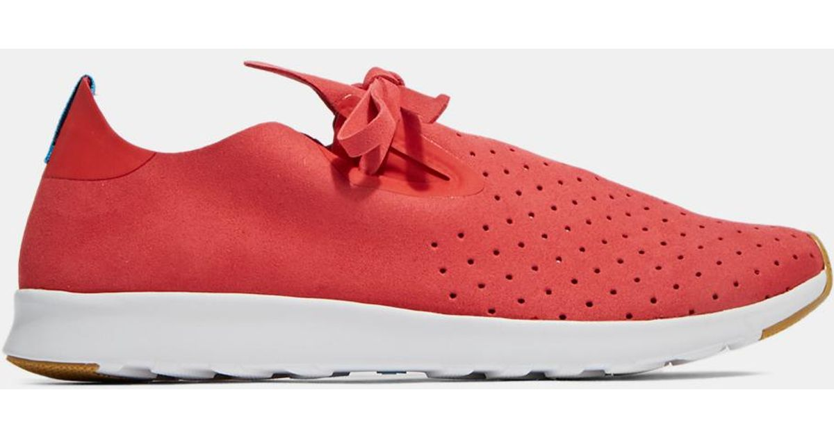 Native shoes Men's Apollo Moc Perforated Sneakers In Torch Red in Pink for Men   Lyst
