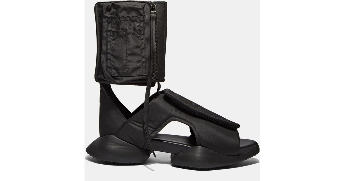 2802afbcc68f Lyst - Rick Owens X Adidas Men s Strap Ro Cargo Sandals In Black in Black  for Men