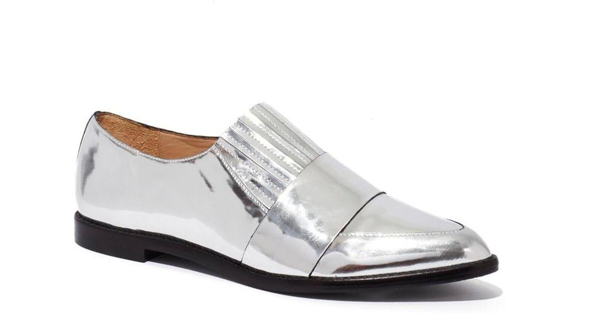 2d6ad1e5cba Lyst - Loeffler Randall Rosa Flat Loafer in Metallic