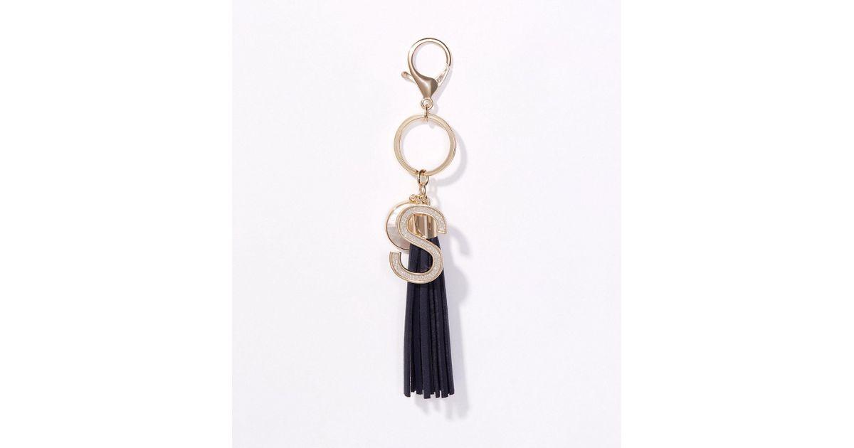 LOFT Multicolor Initial Tassel Keychain