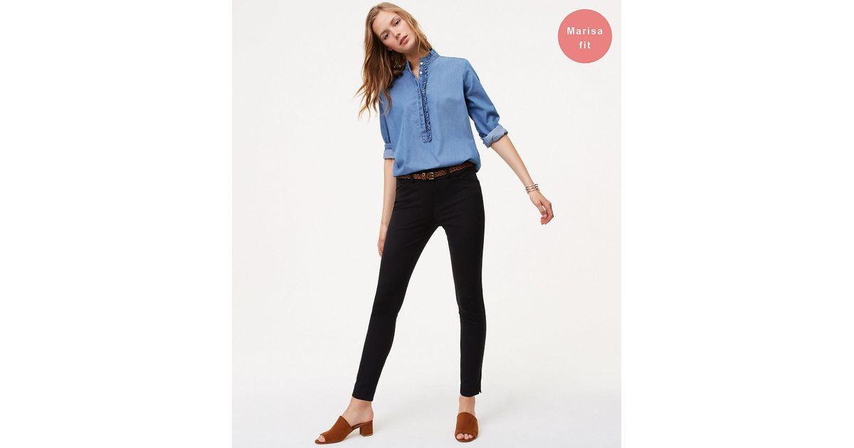 648baa206b2 Lyst - LOFT Petite Bi-stretch Skinny Pants In Marisa Fit in Black
