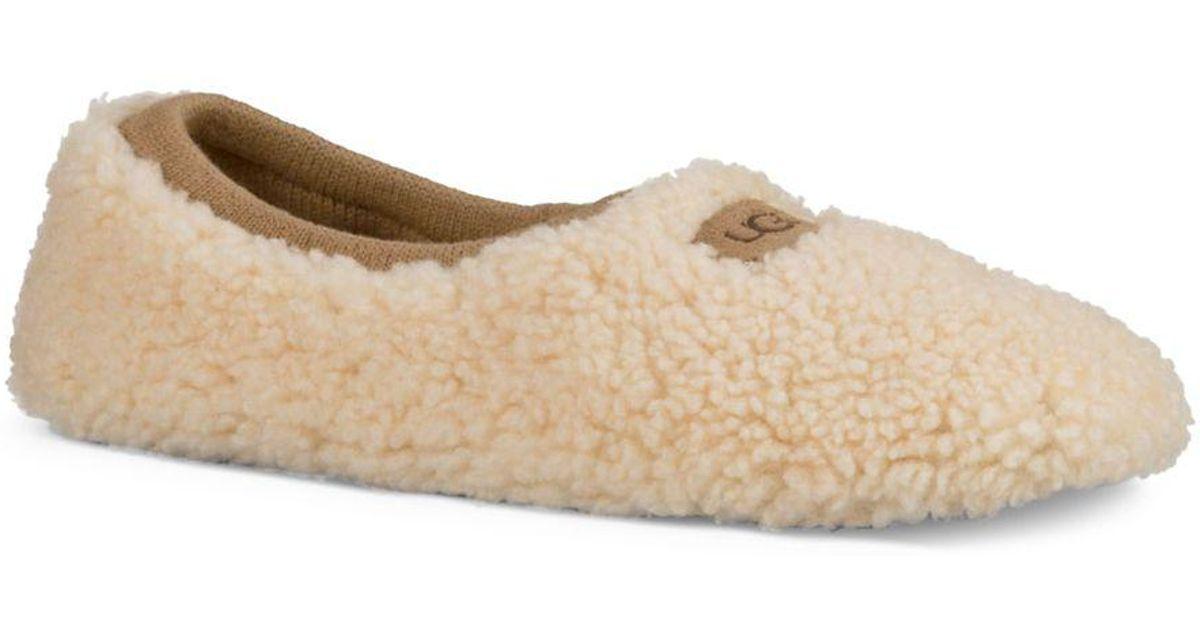 6a22f6b989a Ugg Natural Birche Sheepskin Slippers