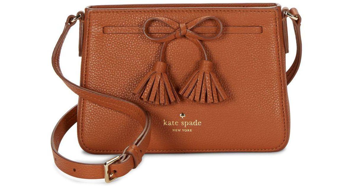 Kate Spade Brown Hayes Street Eniko Leather Crossbody Bag