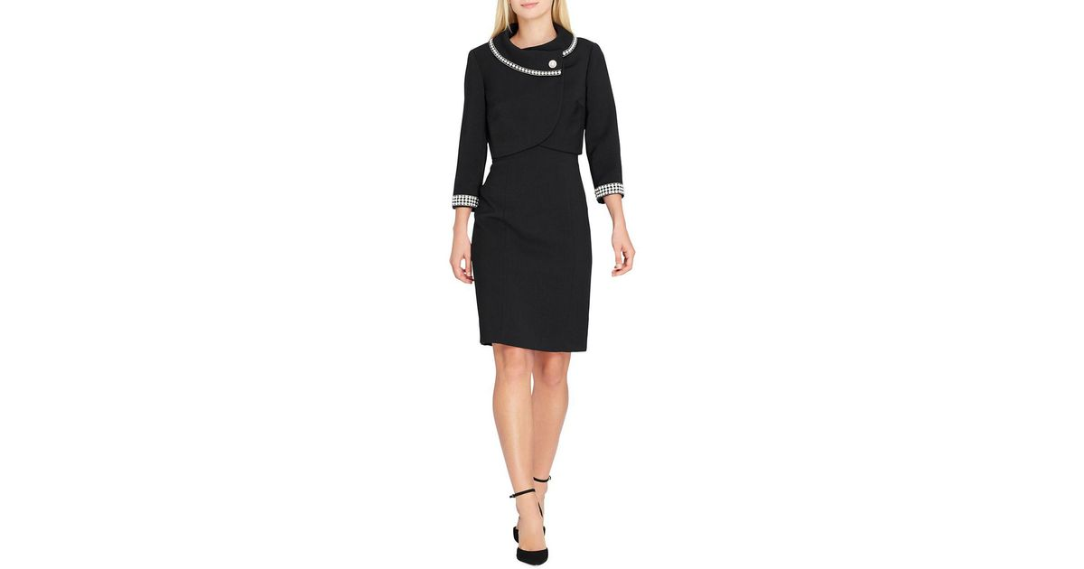 Lyst Tahari Embellished Jacket And Dress Suit In Black