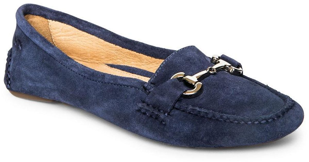 b677986a43d Patricia Green Carrie Suede Driver Moccasins in Blue - Lyst