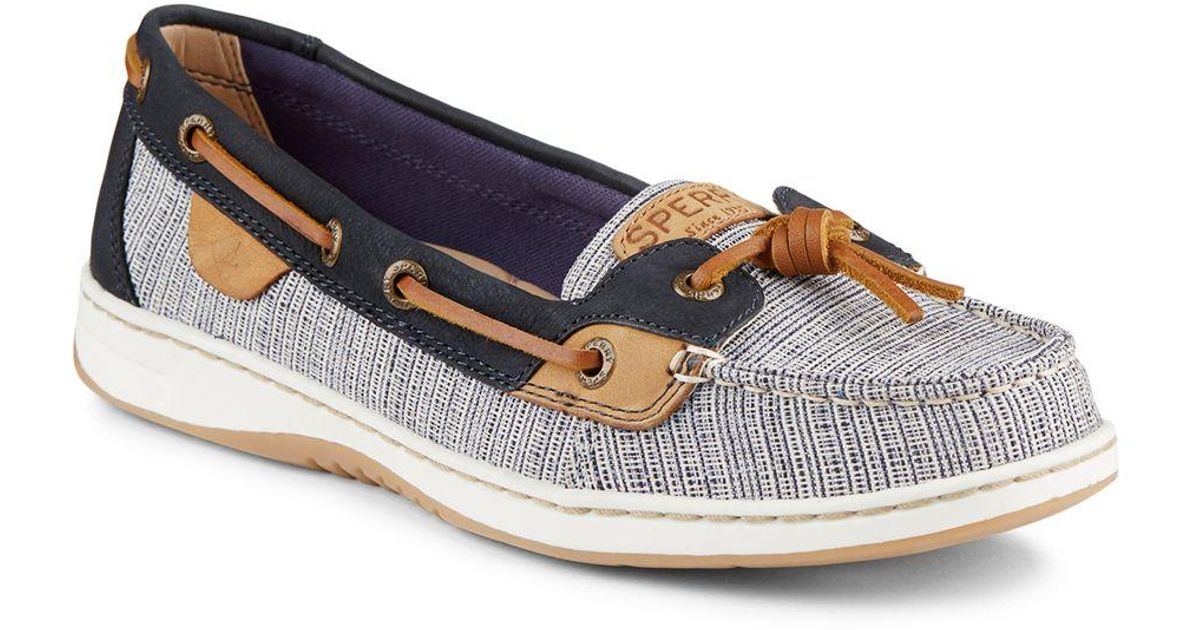 Lyst sperry top sider dune fish slip on boat shoes in for Best boat shoes for fishing