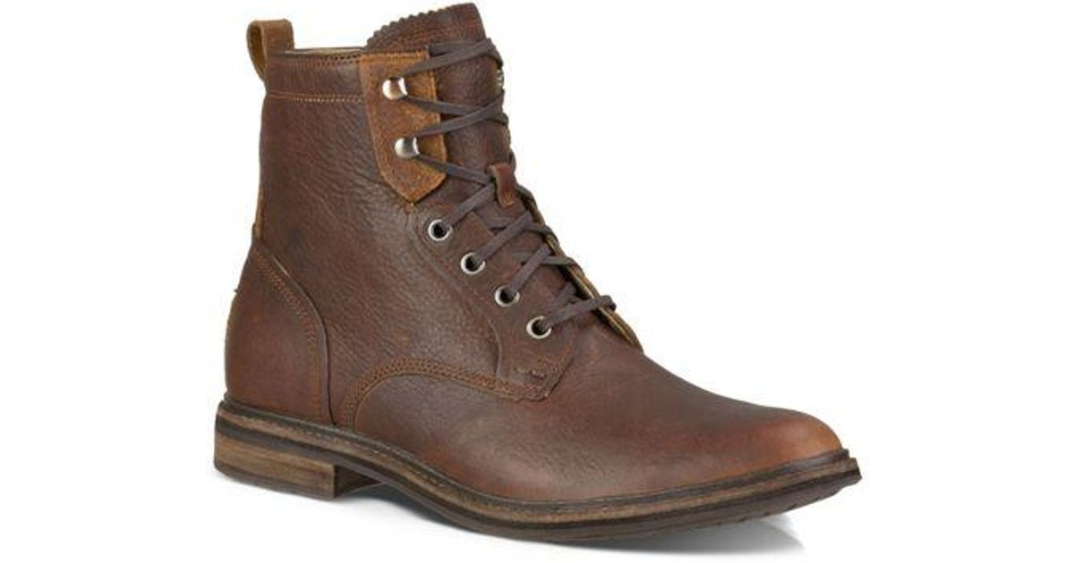 7089039835d Ugg - Brown Selwood Leather Boots for Men - Lyst